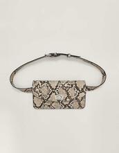 belt bag,bag,purse,print,beige