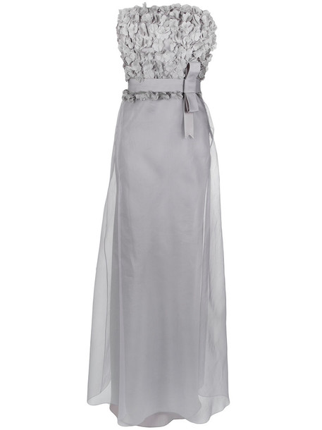 gown women silk grey dress