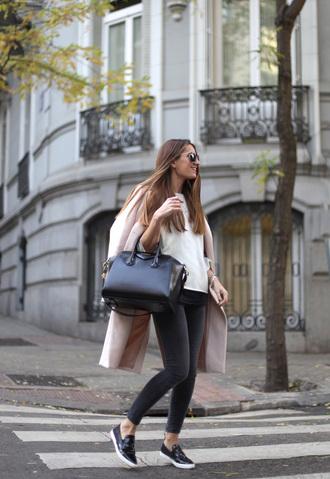 b a r t a b a c blogger coat shoes sweater jeans bag sunglasses