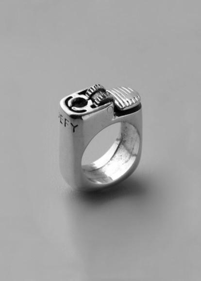 lighter jewels ring silver gadget
