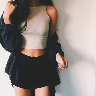 shorts aesthetic aesthetic tumblr aesthic clothes instagram grunge cute outfits teenagers blouse shirt