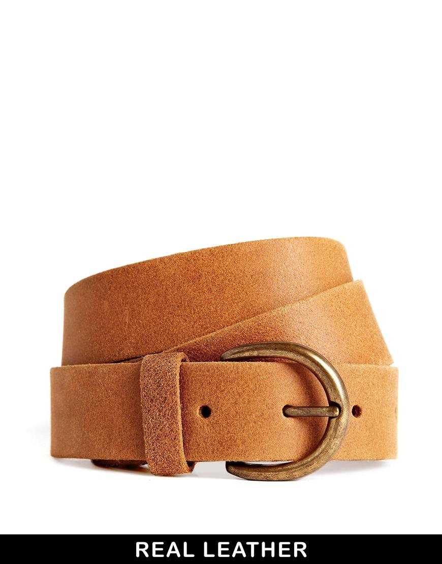 Pieces London Leather Jeans Belt at asos.com