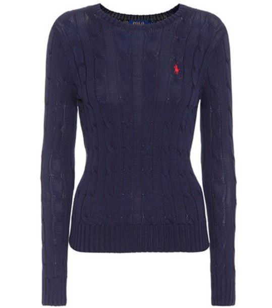 Polo Ralph Lauren sweater cotton blue