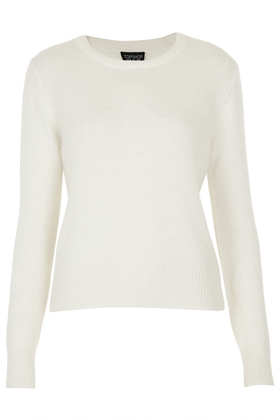 Knitted Angora Fluffy Jumper - Topshop