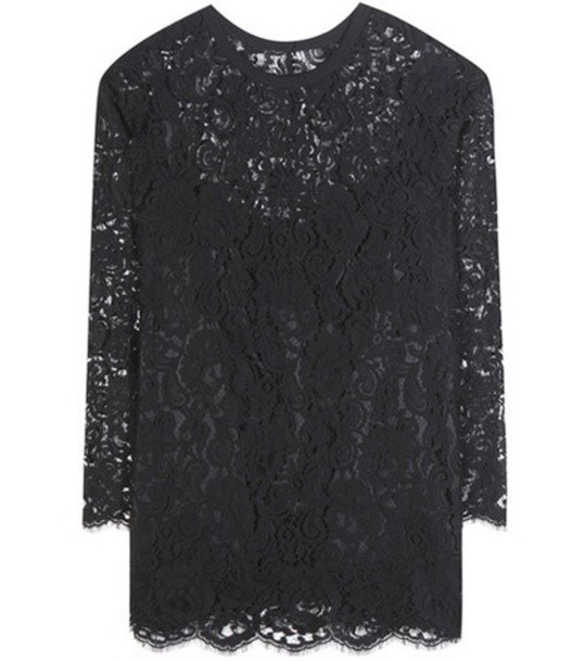 Dolce & Gabbana top lace top lace black