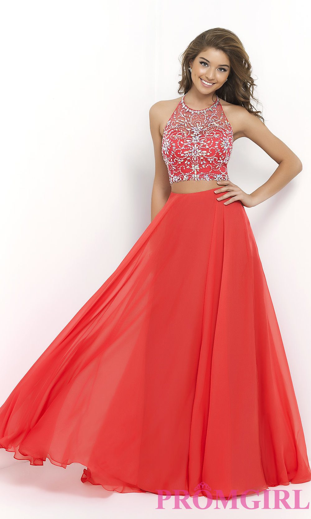 cdfd77bc2b Beaded Two Piece Prom Dress by Blush 9935