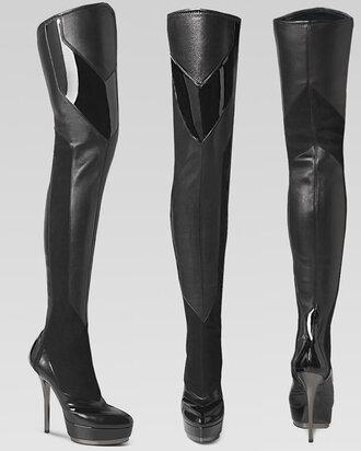 shoes boots gucci black black boots black heel boots