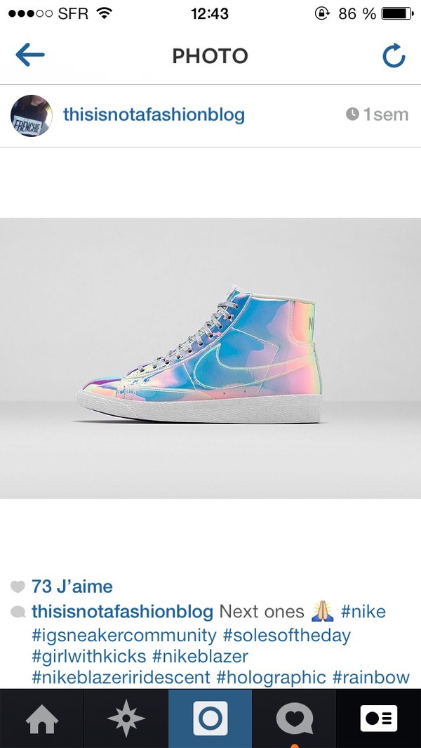 shoes nike blazer iridescent holographic sneakers