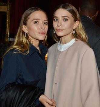 shirt blogger classy olsen sisters camel coat navy