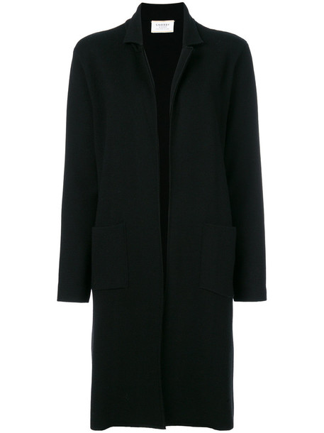 coat women classic black wool