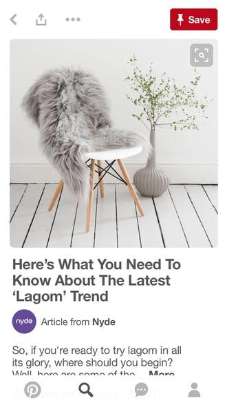 home accessory grey faux fur