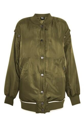 jacket bomber jacket varsity khaki