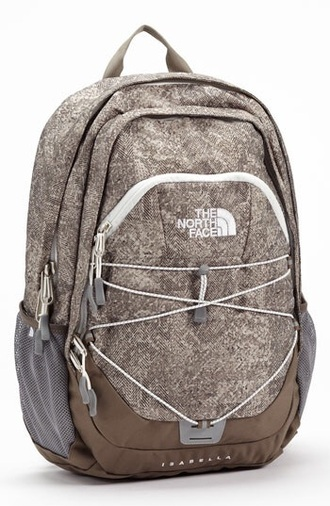 bag beige tan brown white the north face bag backpack back to school