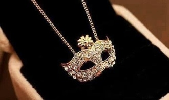 mask jewels diamonds masquerade masquerade mask necklace white