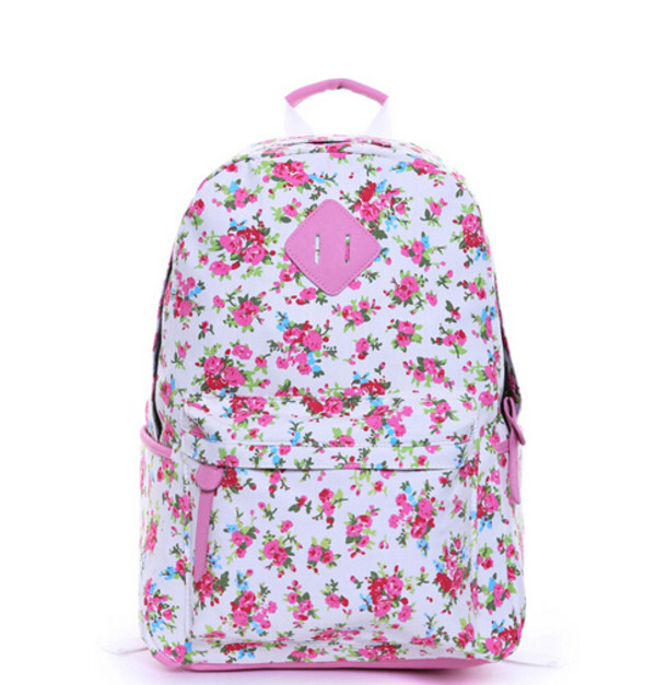 bag school bag backpack backpack floral back to school roses