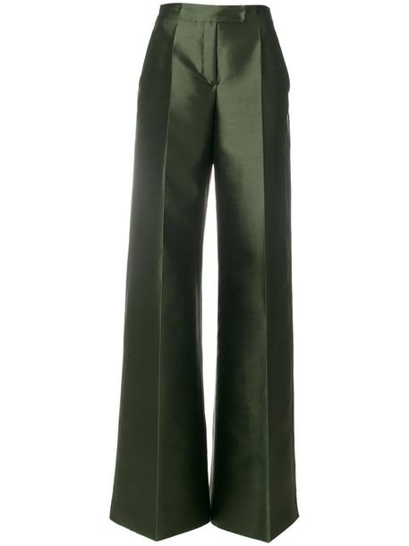 women spandex silk green pants