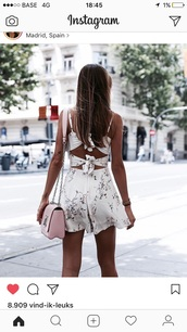 romper,cute,cute dress,summer dress,white dress,mini dress,white romper,lace romper,90s grunge romper,coachella romper,romper shorts,romper dress,daisy rompers,cream romper,summer romper,boho romper
