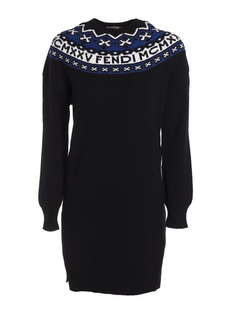Fendi pullover long black sweater