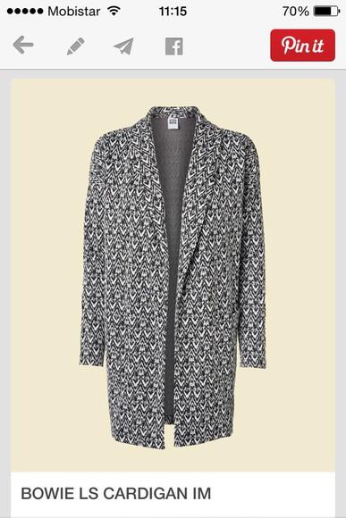 coat print grey long coat