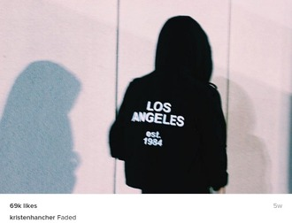 sweater instagram hoodie los angeles instagram girl black hoodie
