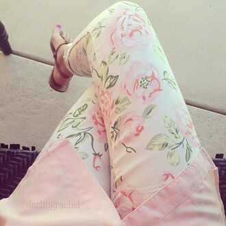 jeans floral floral jeans white jeans pink flowers rosy rosy jeans pants floral pants shoes