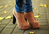 shoes,high heels,jeffrey campbell,suede boots,autumn heels,platform lace up boots,shorts,lace,boots,beige,heel boots,brown heels,marron (brown),talons,heels,winter boots,brown,cute,ankle boots,brown shoes