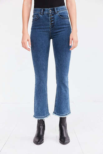 jeans denim clothes pants urban outfitters flare jeans