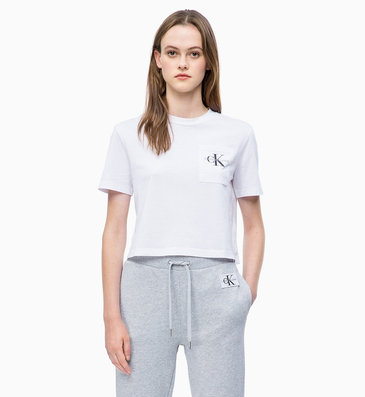 Organic Cotton Cropped Logo T-shirt
