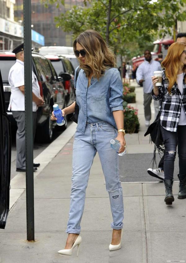 jeans denim jessica alba shoes