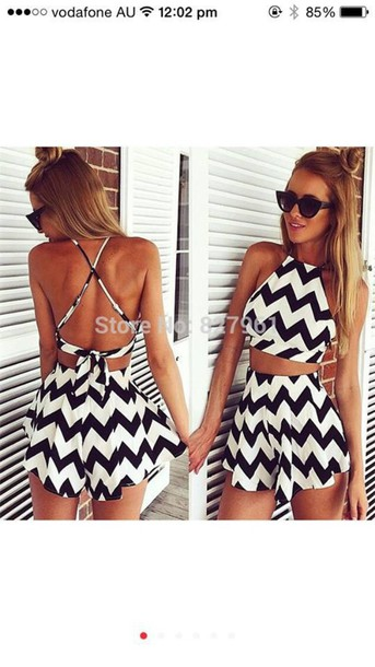 jumpsuit top shorts set High waisted shorts boutique romper romper dress from wish $15 black and white