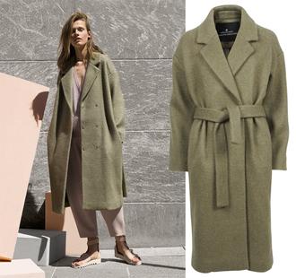 blame it on fashion blogger winter coat long coat dusty pink coat