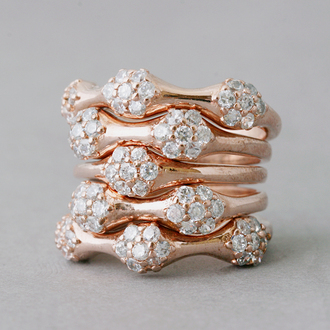 stacked jewelry jewels ring wedding clothes band merch wedding ring wedding jewelry rose gold jewelry rose gold ring stackable jewelry stackable ring