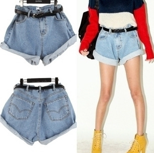 2014 new arrival korea street style women girls hot shorts plus size denim jeans retro free shipping wholesale price-in Shorts from Apparel & Accessories on Aliexpress.com