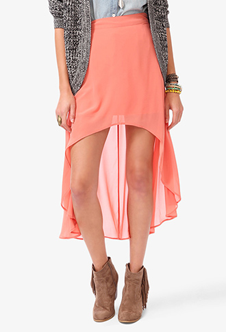 High-Low Chiffon Skirt | FOREVER21 - 2030187783