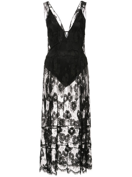 Fleur du Mal dress lace dress women spandex lace black