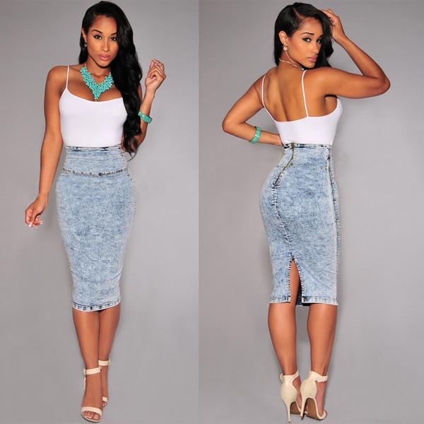 Blue Jean Skirts For Sale - Dress Ala