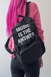 bag,backpack,black,fashion,style,black and white,quote on it,back to school,free vibrationz