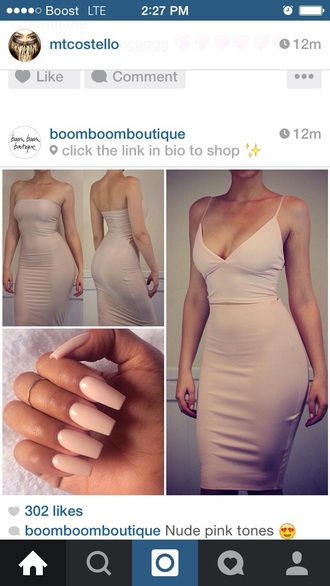 dress nude strapless