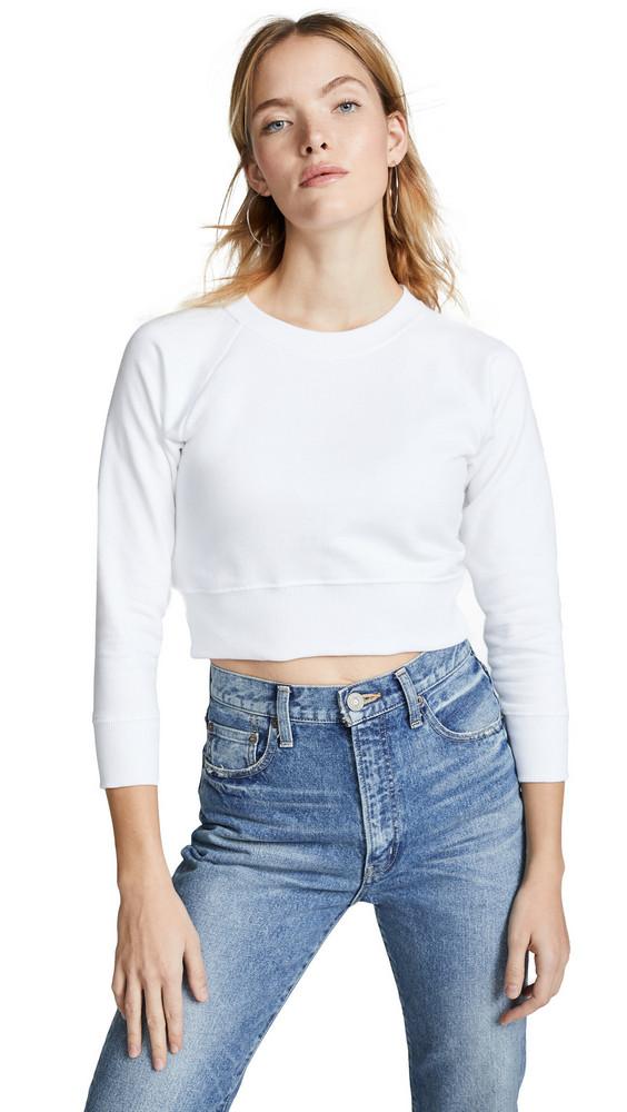 Hanes x Karla The Crop Sweatshirt in white