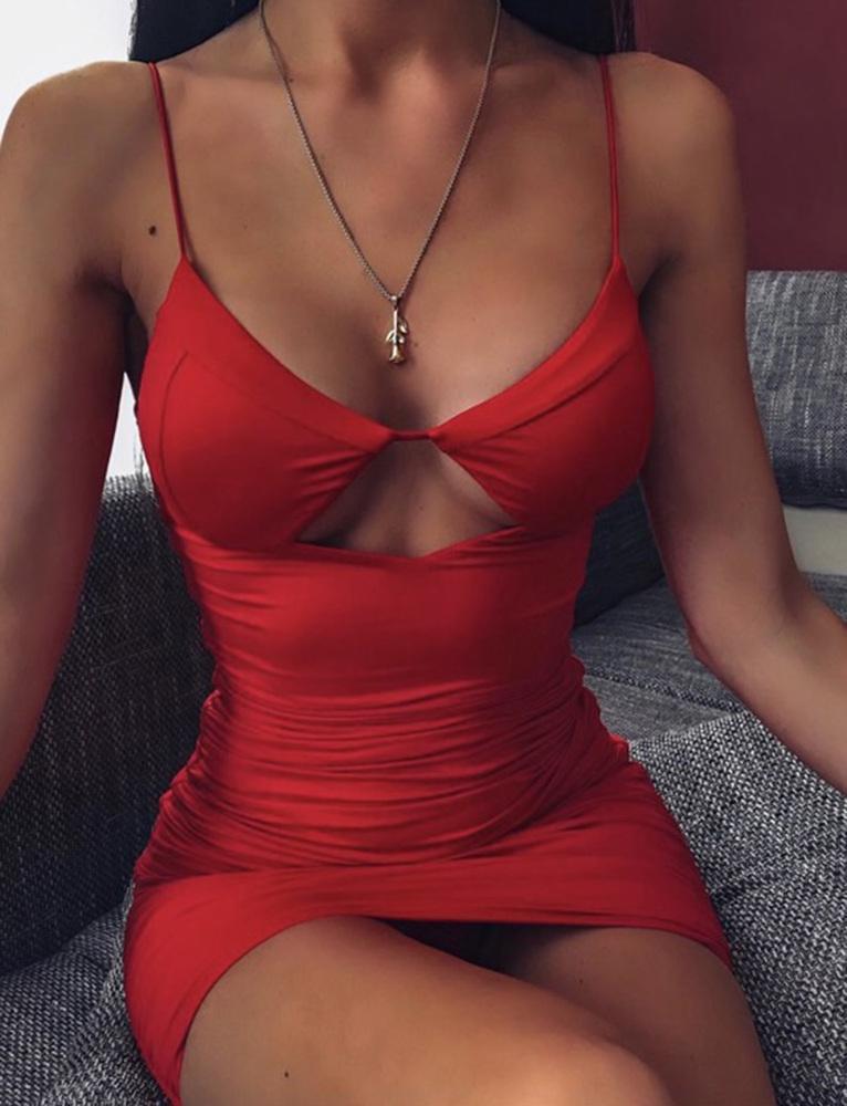 Tavi Dress - Red - XS RED