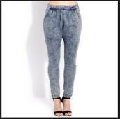 harem pants,parachute pants,denim,jeans
