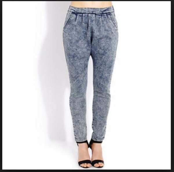 harem pants parachute pants denim jeans