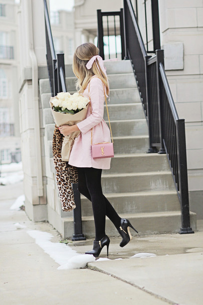 jacket shoes high heels bag
