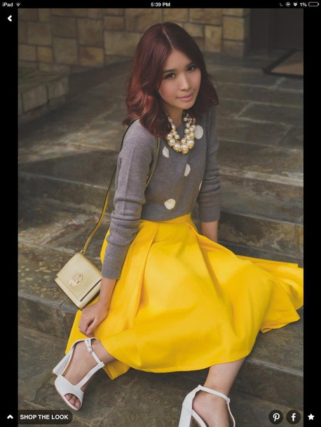 skirt yellow t length  skirt