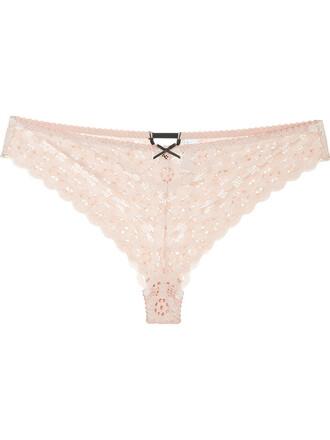 women spandex lace pink crochet underwear