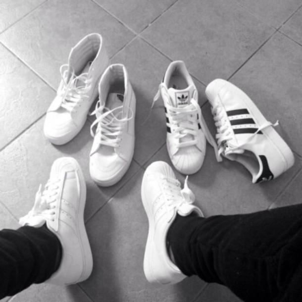 shoes adidas superstar classic white black adidas superstars