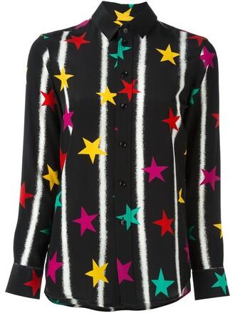 shirt paris print black top