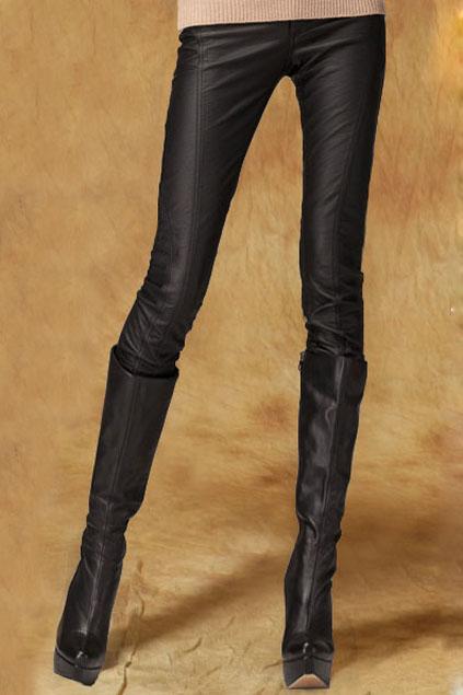 ROMWE | Riveted Slim Black Pants, The Latest Street Fashion