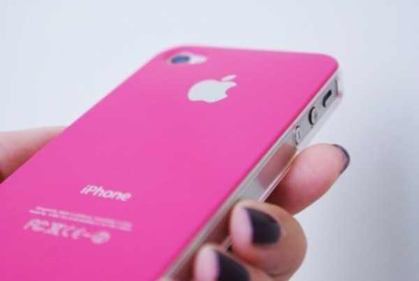 nail polish iphone cover pink jewels