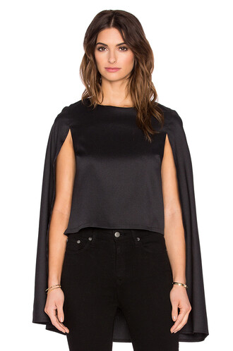 top cape black